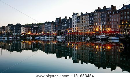 Evening In Honfleur Harbor, France (2)
