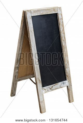 THE Wooden menu board with clipping path