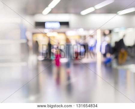 Abstract Blurred background : airport shopping area