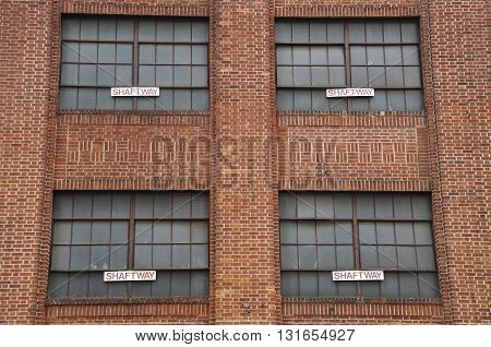 Architectural Background Windows of industrial NYC Building