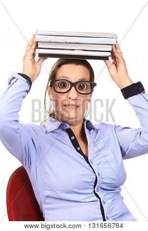 girl dressed like a geek