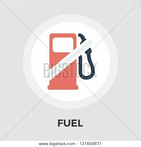 Fuel icon vector. Flat icon isolated on the white background. Editable EPS file. Vector illustration.