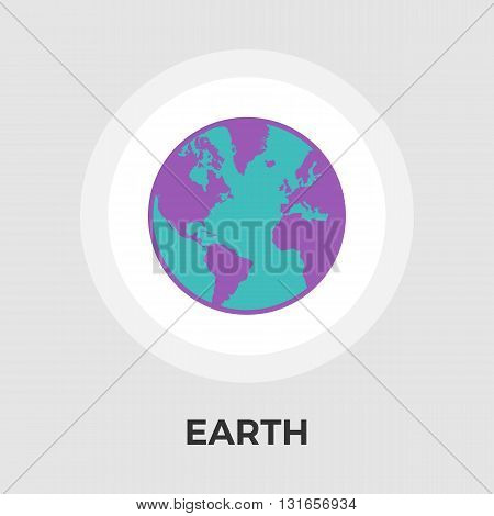 Earth icon vector. Flat icon isolated on the white background. Editable EPS file. Vector illustration.