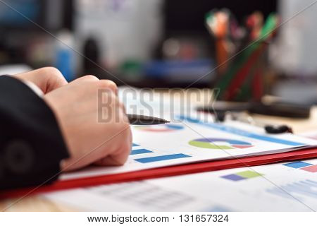 Businesswoman Woman With Pen In Hand