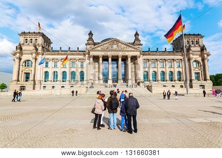 German Reichstag In Berlin, Germany