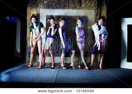 Fashion project, retro style.