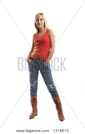 Good Looking Casual Young Woman