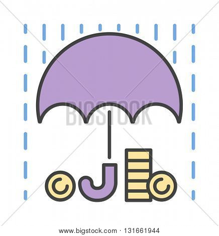 Money rain sign icon vector