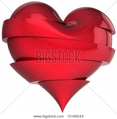 Broken love heart shape symbol