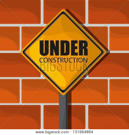 Under construction concept with icon design, vector illustration 10 eps graphic.