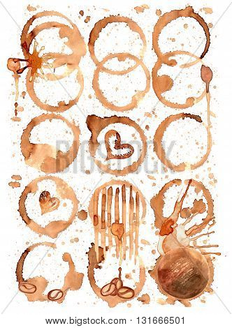 Coffee Stain Set