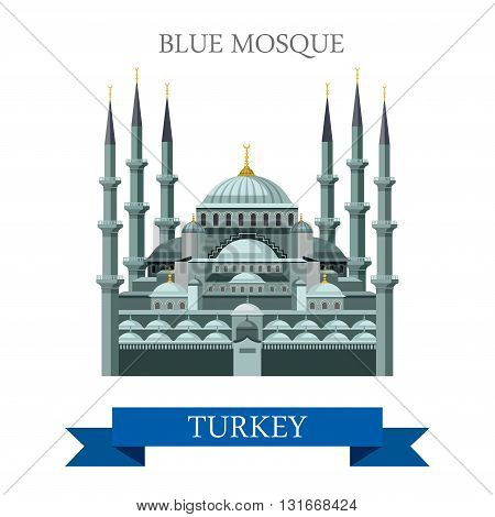 Blue Mosque in Istanbul Turkey attraction travel landmark