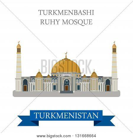 Turkmenbashi Ruhy Mosque in Ashgabat Turkmenistan attraction