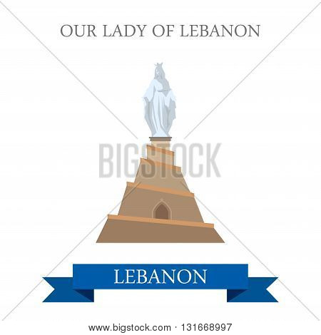 Our Lady of Lebanon Statue Monument attraction travel landmark