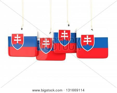 Square Labels With Flag Of Slovakia