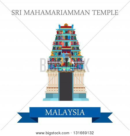 Sri Mahamariamman Hindu Temple Malaysia attraction sightseeing