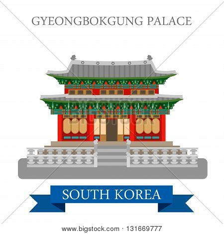 Gyeongbokgung Palace Seoul South Korea landmarks flat attraction
