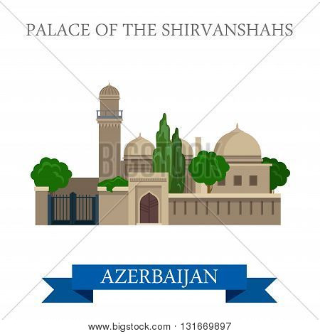 Palace of Shirvanshahs Azerbaijan landmarks vector attraction