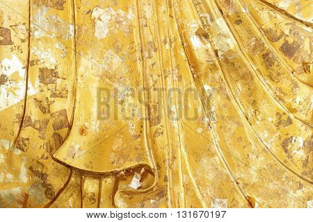 The golden layer texture. gold background,golden wall.