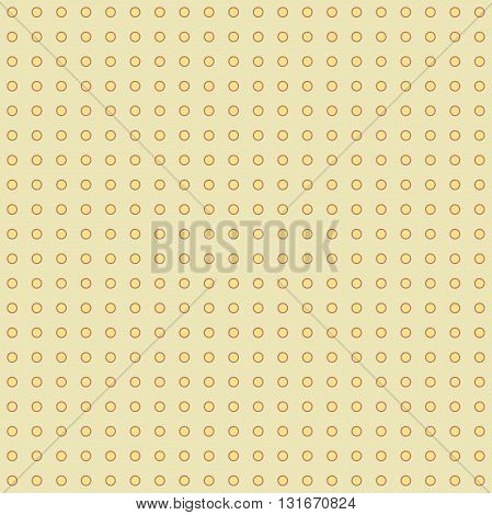 Seamless geometric modern vector pattern. Golden ornament with round elements
