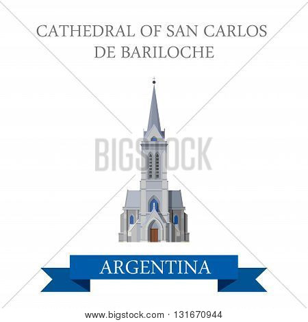 Cathedral of San Carlos de Bariloche Rio Negro Argentina vector