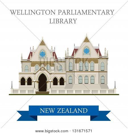 Parliamentary Library Wellington New Zealand vector attraction