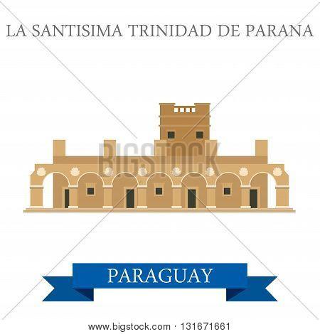 La Santisima Trinidad De Parana Paraguay vector flat attraction