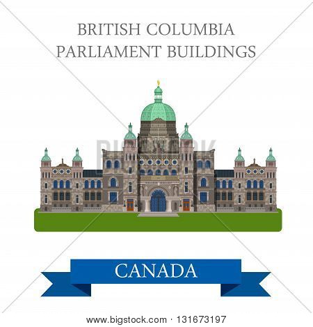 British Columbia Parliament Buildings Canada vector attraction