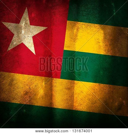 The old vintage grunge flag of Togo
