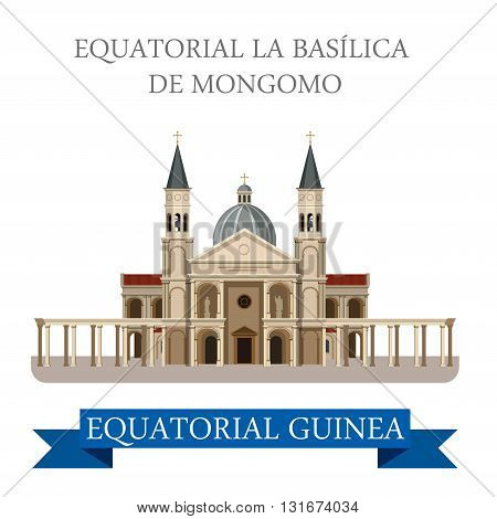Basilica de Mongomo in Equatorial Guinea vector flat attraction