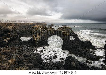Gatklettur In Western Iceland