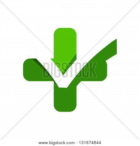 Medical logo icon ceklist healthy care design