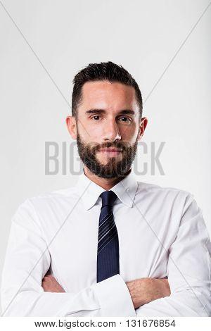 Portrait Of A Businessman With Beard