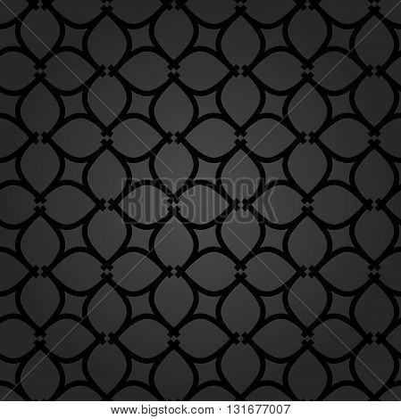 Seamless vector ornament in arabian style. Pattern for wallpapers and backgrounds. Modern dark pattern