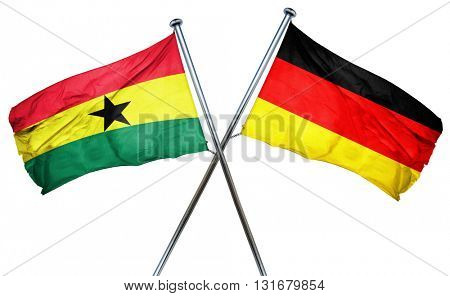 Ghana flag  combined with germany flag, 3D rendering