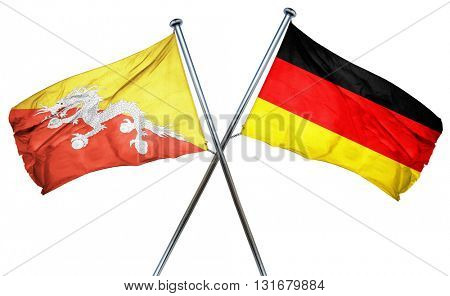 Bhutan flag  combined with germany flag