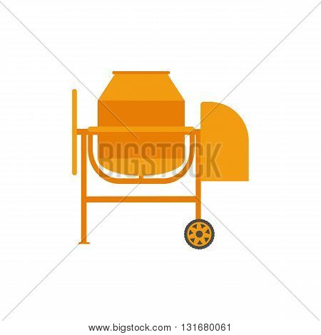 Concrete mixer vector illustration. Concrete mixer isolated on white background