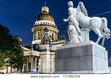St. Isaac's Cathedral From Manege Sculpture