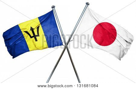 Barbados flag  combined with japan flag