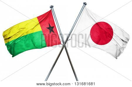 Guinea bissau flag  combined with japan flag