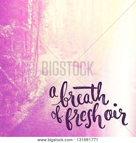 Inspirational Typographic Quote - A breath of fresh air