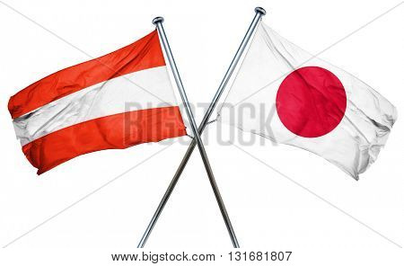 Austria flag  combined with japan flag