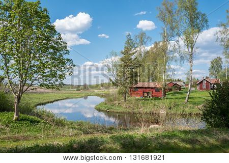 Springtime in Hallestad between Finspang and Orebro in Sweden.