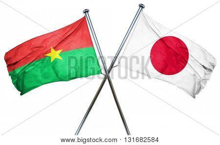 Burkina Faso flag  combined with japan flag