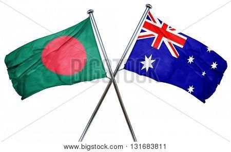 Bangladesh flag  combined with australian flag