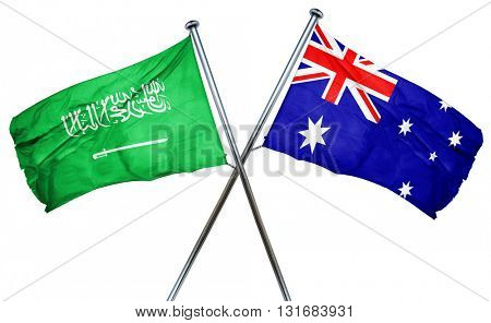 Saudi Arabia flag  combined with australian flag