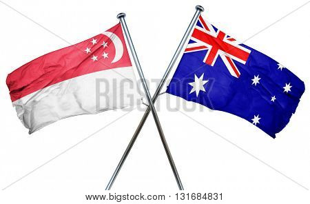 Singapore flag  combined with australian flag