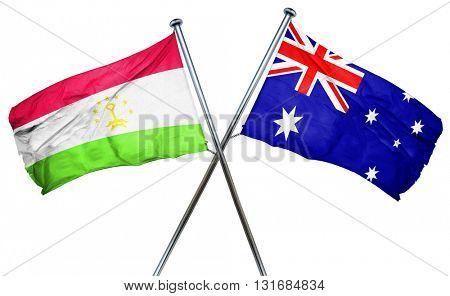 Tajikistan flag  combined with australian flag