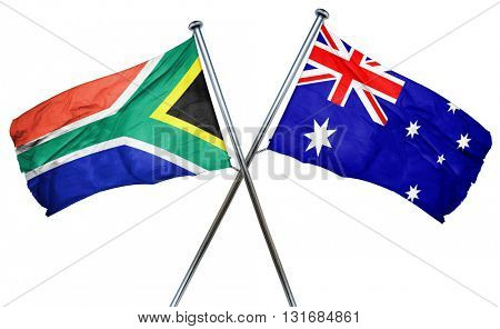 South africa flag  combined with australian flag