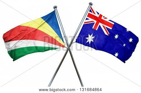 seychelles flag  combined with australian flag
